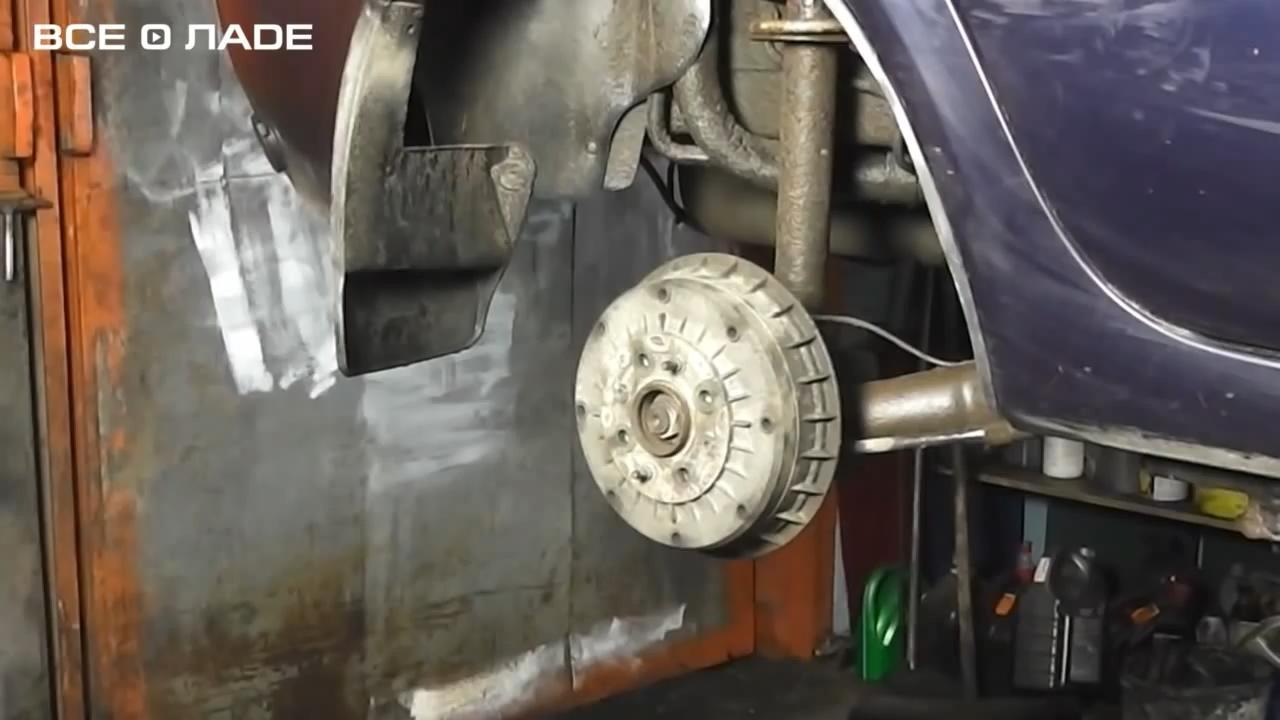 Замена задних тормозных колодок Лада Калина