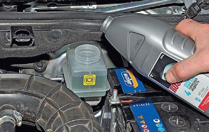 Замена тормозной жидкости лада калина