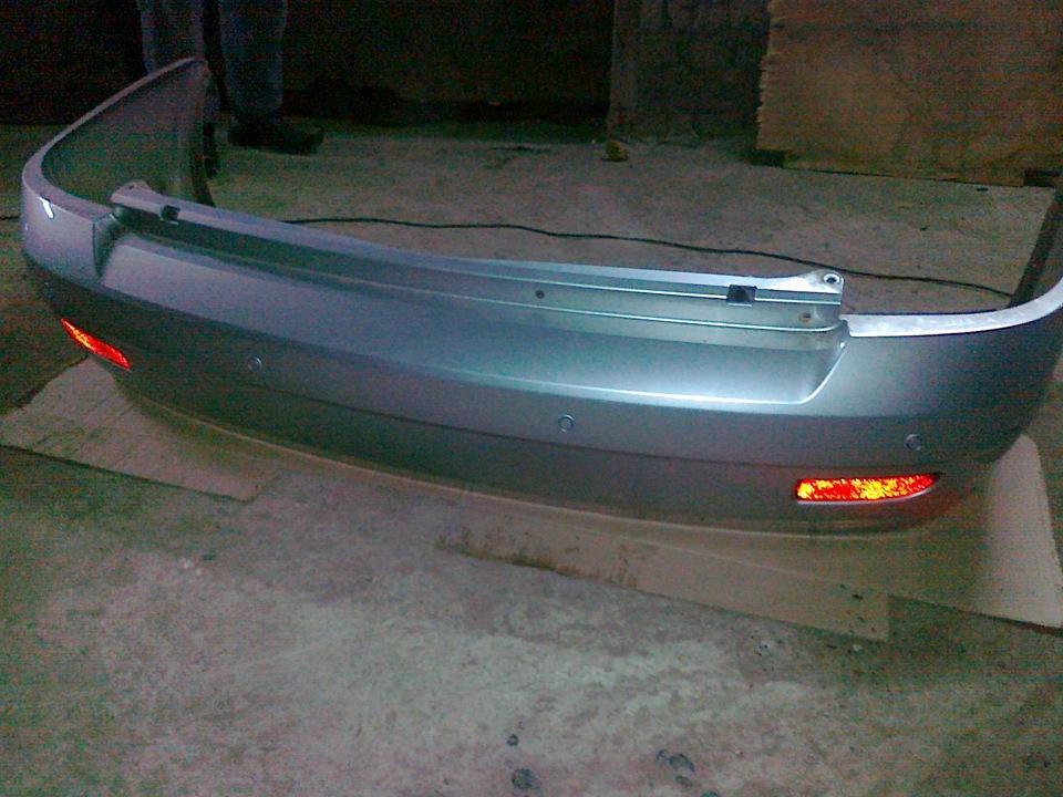 бампер с парктрониками на Приоре