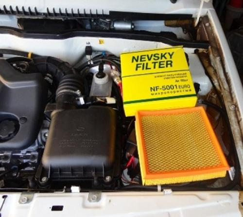 установка воздушного фильтра Ваз 2114