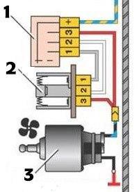Схема резистора печки Ваз 2114
