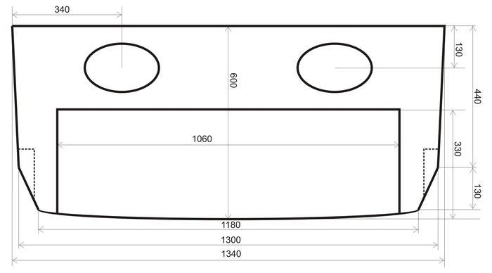 чертеж задней полки ваз 2114