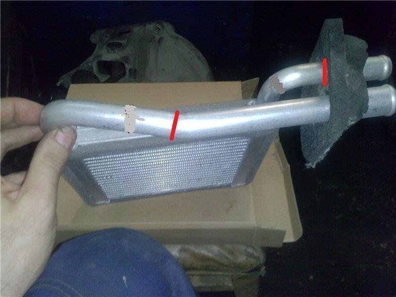 как поменять радиатор печки на гранте